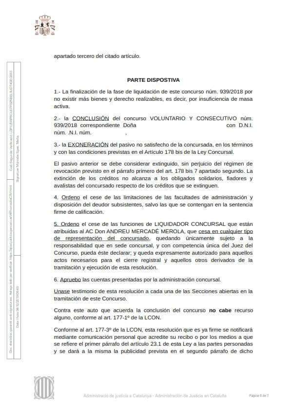 Cancelación deudas Lleida